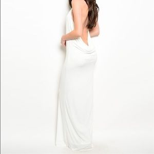 Brand new with tags ivory backless gown